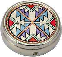 Colorful Native American Pill Boxes