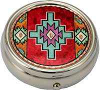 Colorful Native Indian Pill Boxes