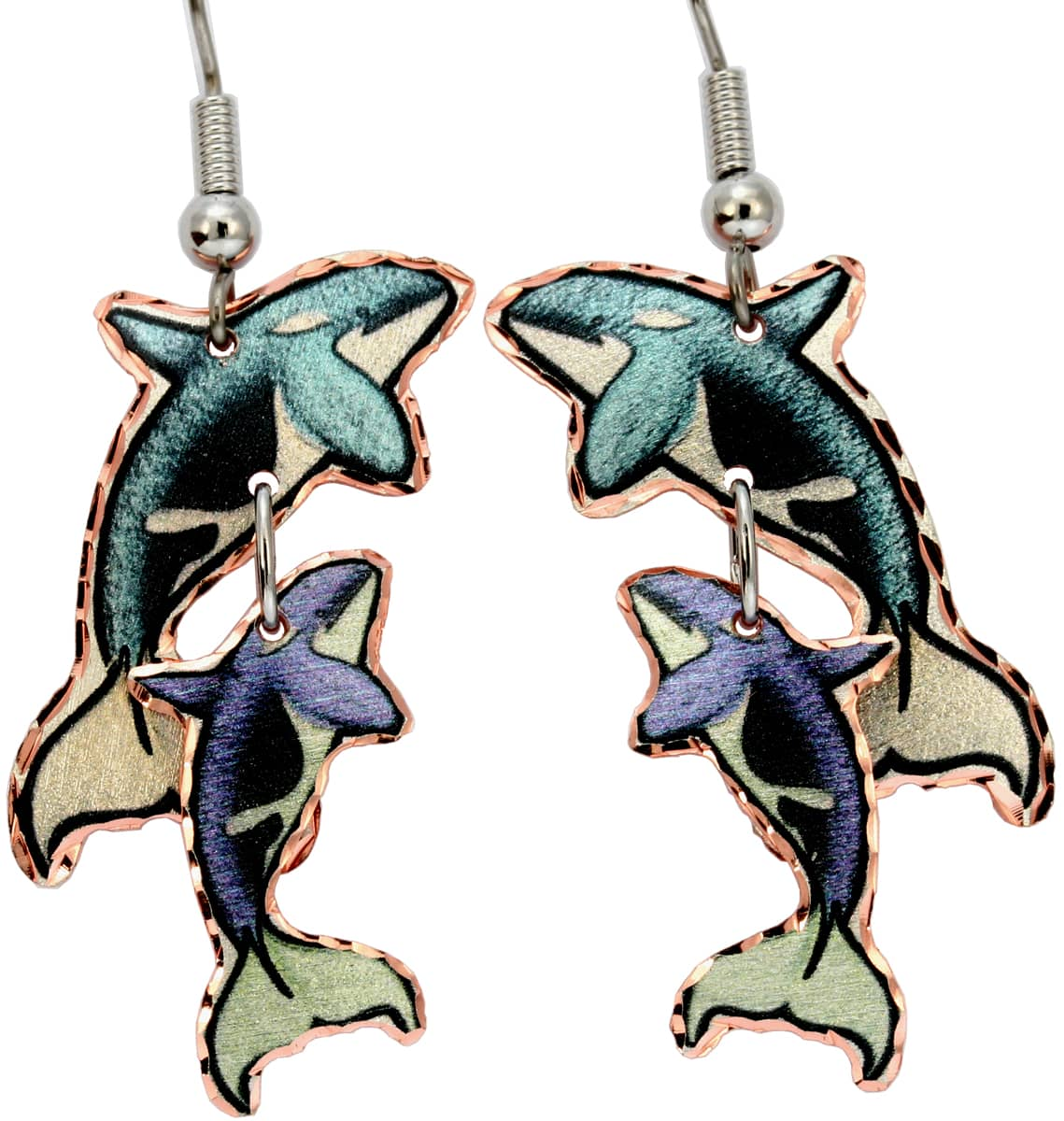 Cut Out Whales Earrings