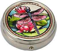 Dragonfly & Water Lilies Pill Boxes