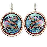 Dolphin Earrings Designed by Lynn Bean