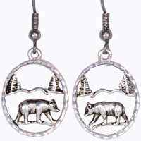 Wholesale Fashion Jewelry Earrings, Cut Out Bear Earrings