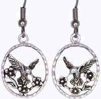 Wholesale Fashion Jewelry Earrings, Cut Out Hummingbird Earrings