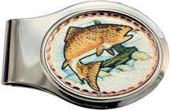 Trout Fisherman Money Clip