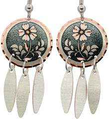 Dangle Round Flower Earrings