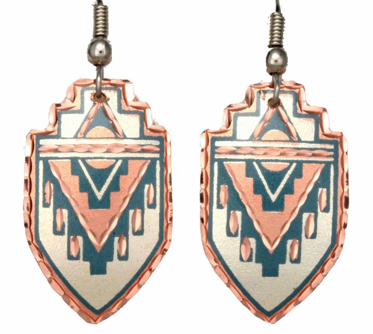 Copper SW Native Earrings
