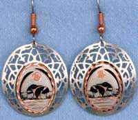 Loons Earrings Handcrafted in Cut Out Filigree Style