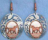 Horse Earrings Handcrafted in Filigree Style