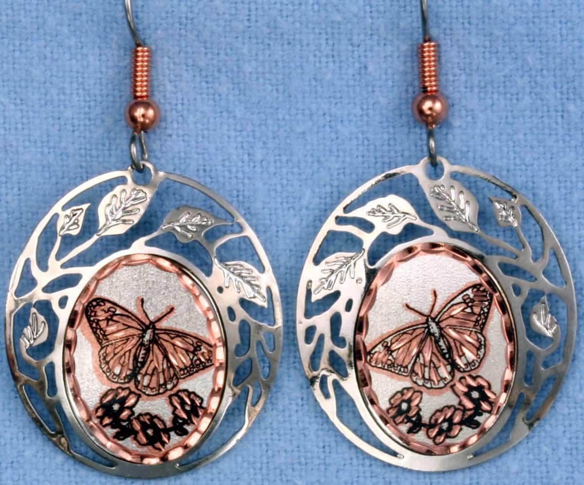 Cut Out Butterfly Earrings