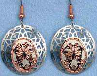 Butterfly Earrings with Cut Out Bezels