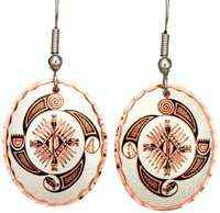 Copper Native Earrings Created in 4 Element Design