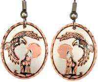 Flying Eagle and Howling Wolf Earrings