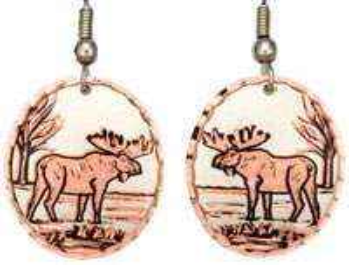 Handcrafted Moose Earrings
