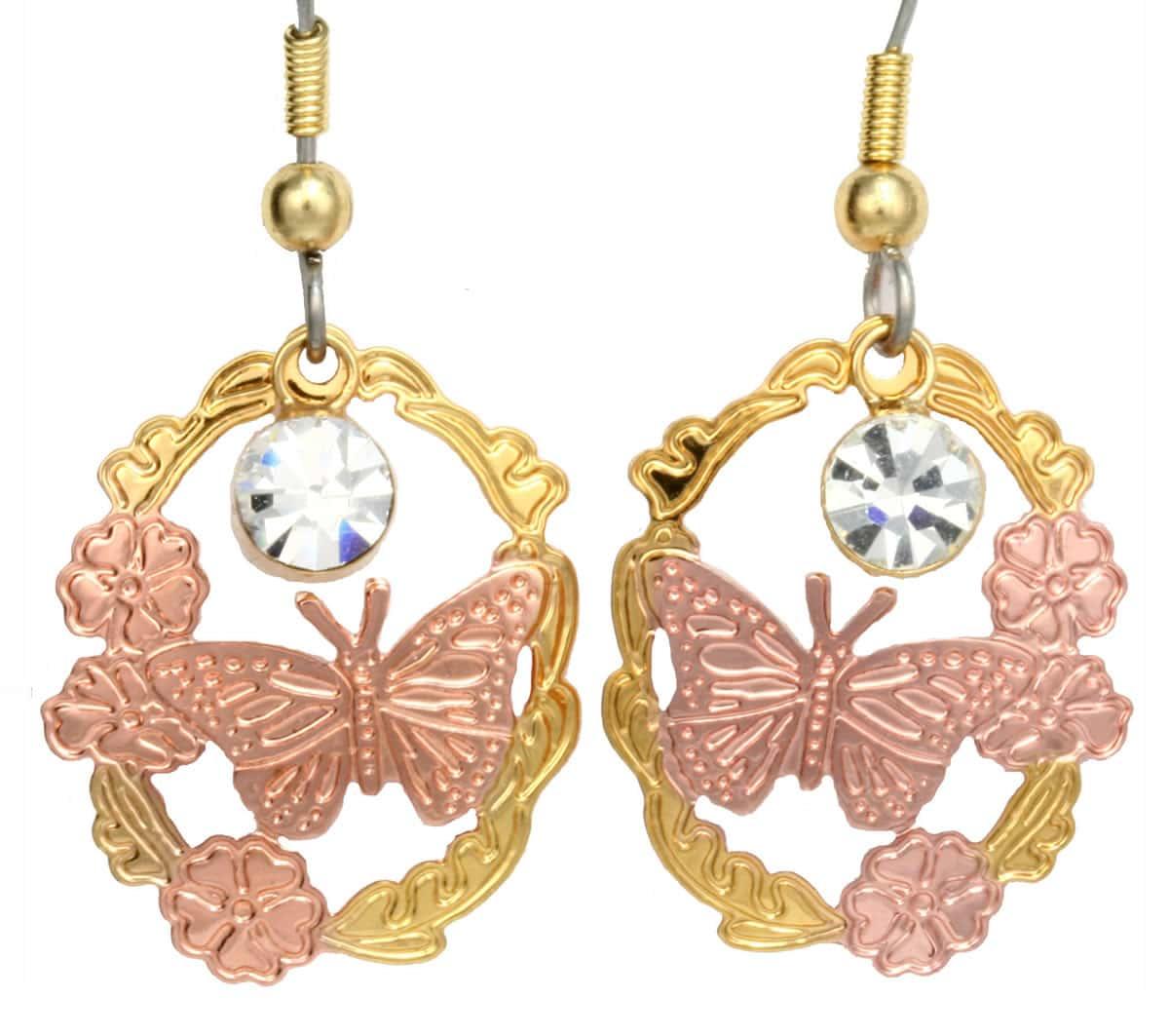 Handcrafted Earrings, Butterfly Cut Out Earrings
