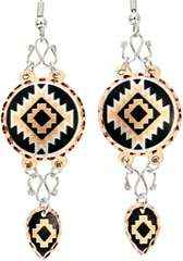 Handcrafted Wire Earrings in SW Native Design