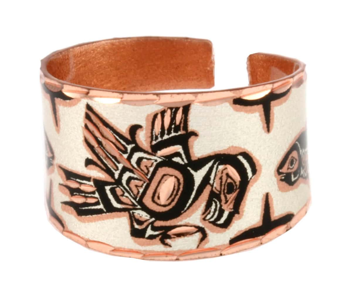 SW Native Eagle and Salmon Rings