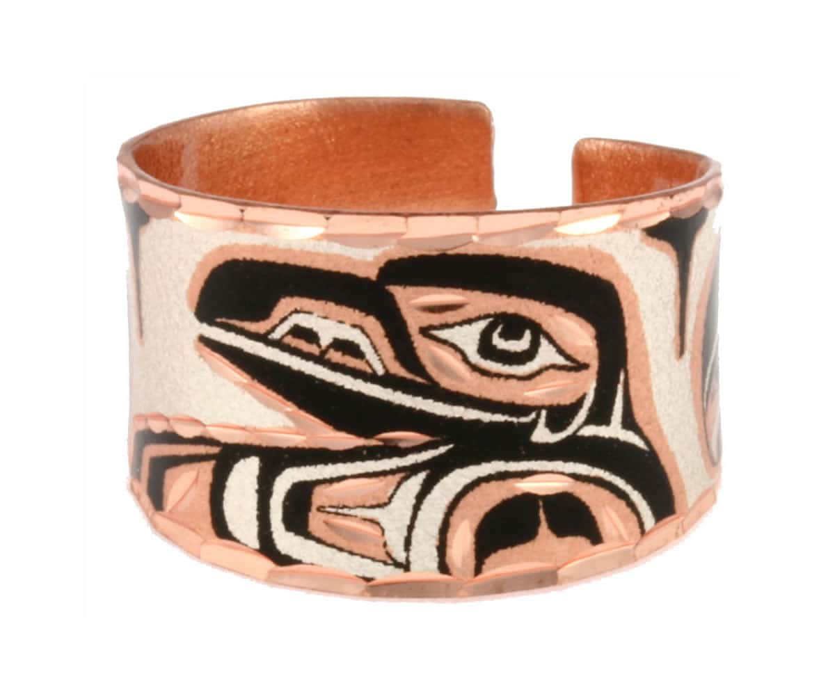 NW Native Canadian Raven Rings