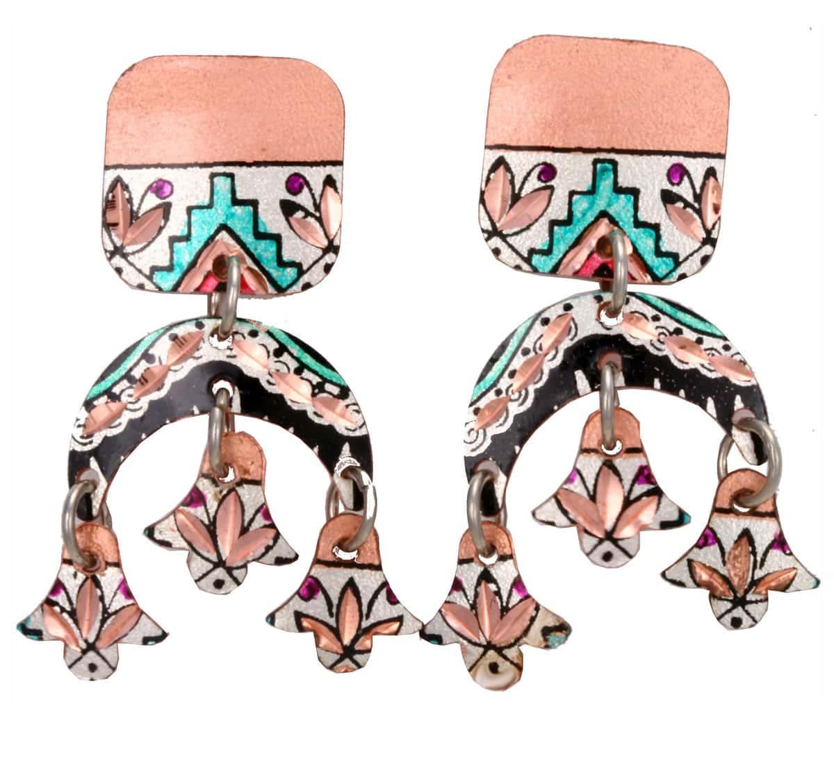 Hand Painted Artisan Earrings