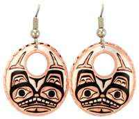 Canadian NW Native Wolf Earrings