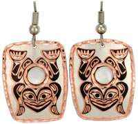 Canadian NW Native Frog Earrings