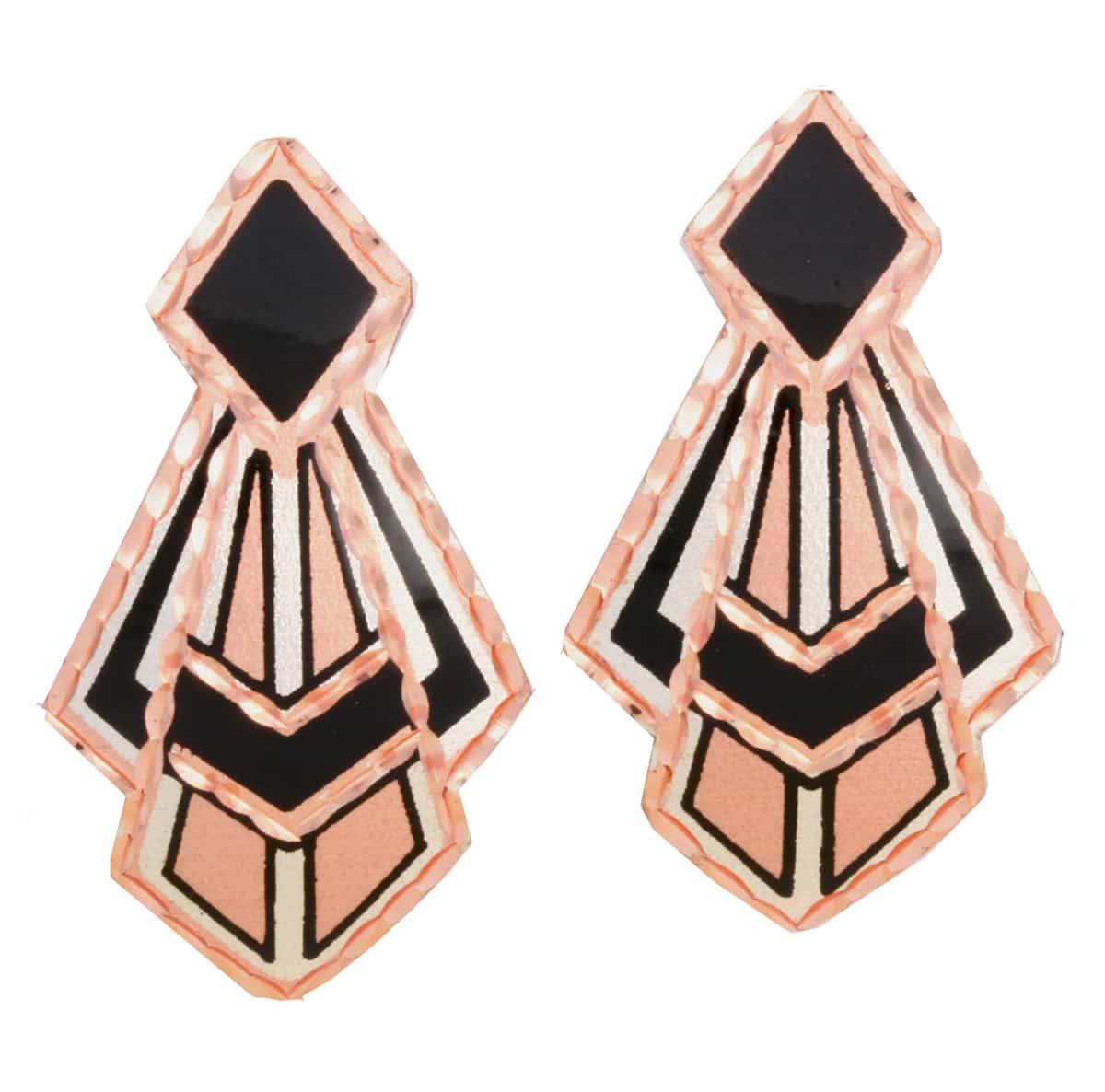 Copper Stud Earrings