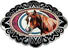 Colorful Horse Belt Buckles Created in Western Style