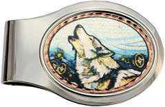 Howling Wolf Money Clips