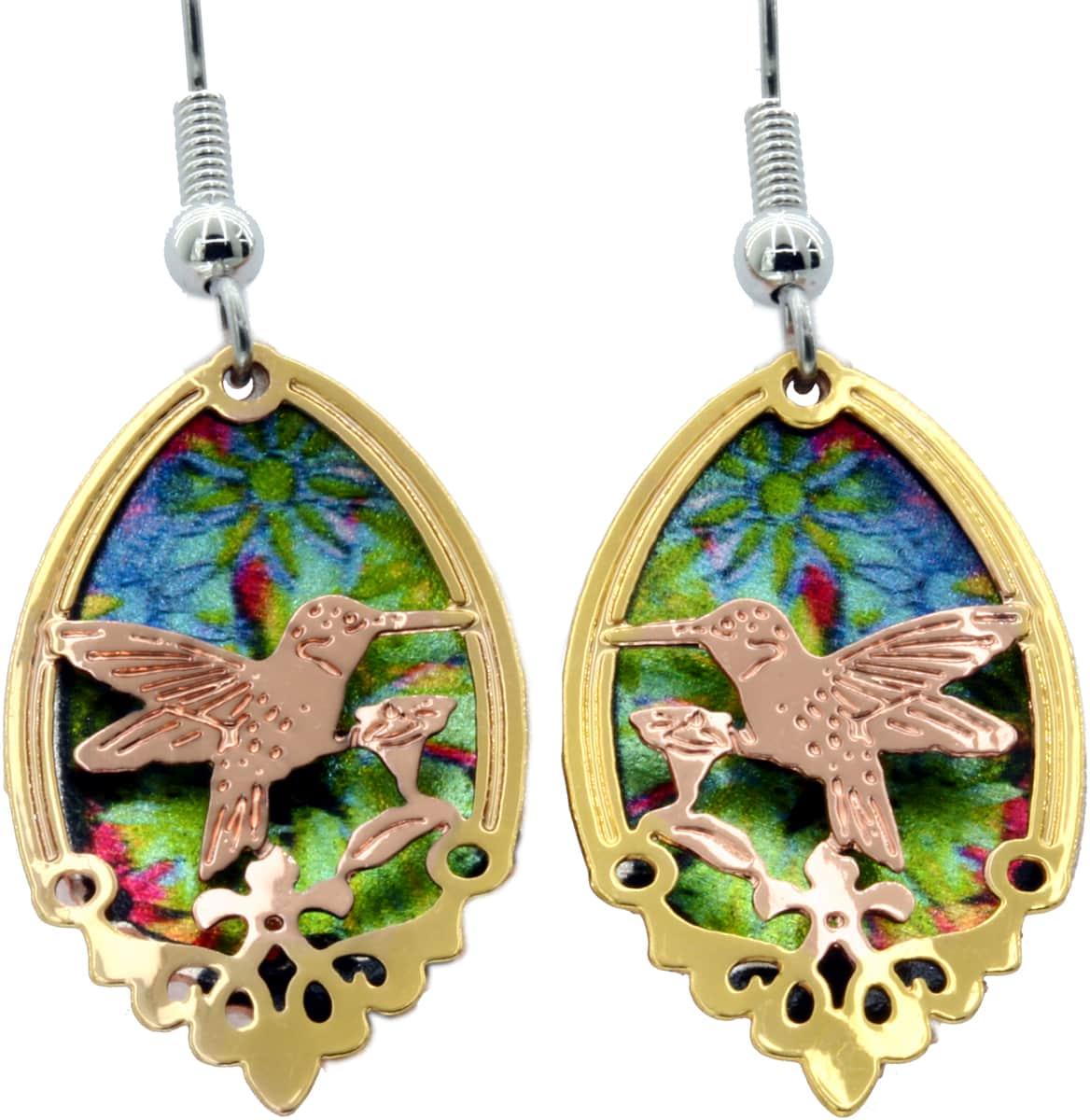 Cut Out Hummingbird Earrings