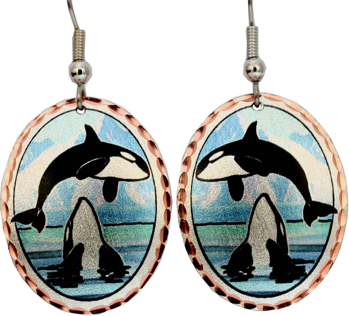 Killer Whale Earrings