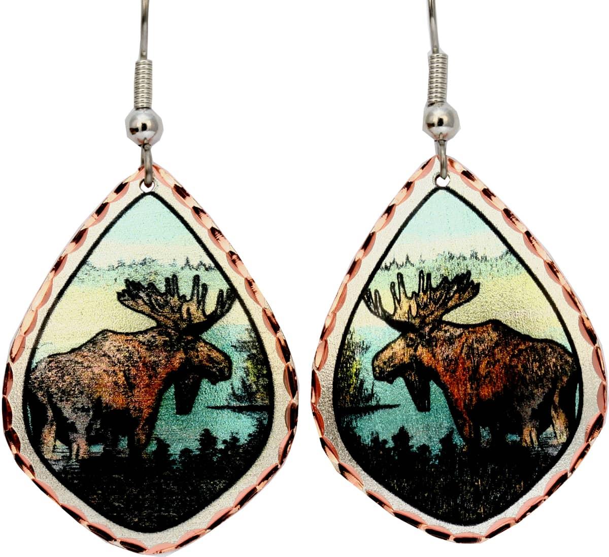 Alaska Jewelry, Moose Earrings