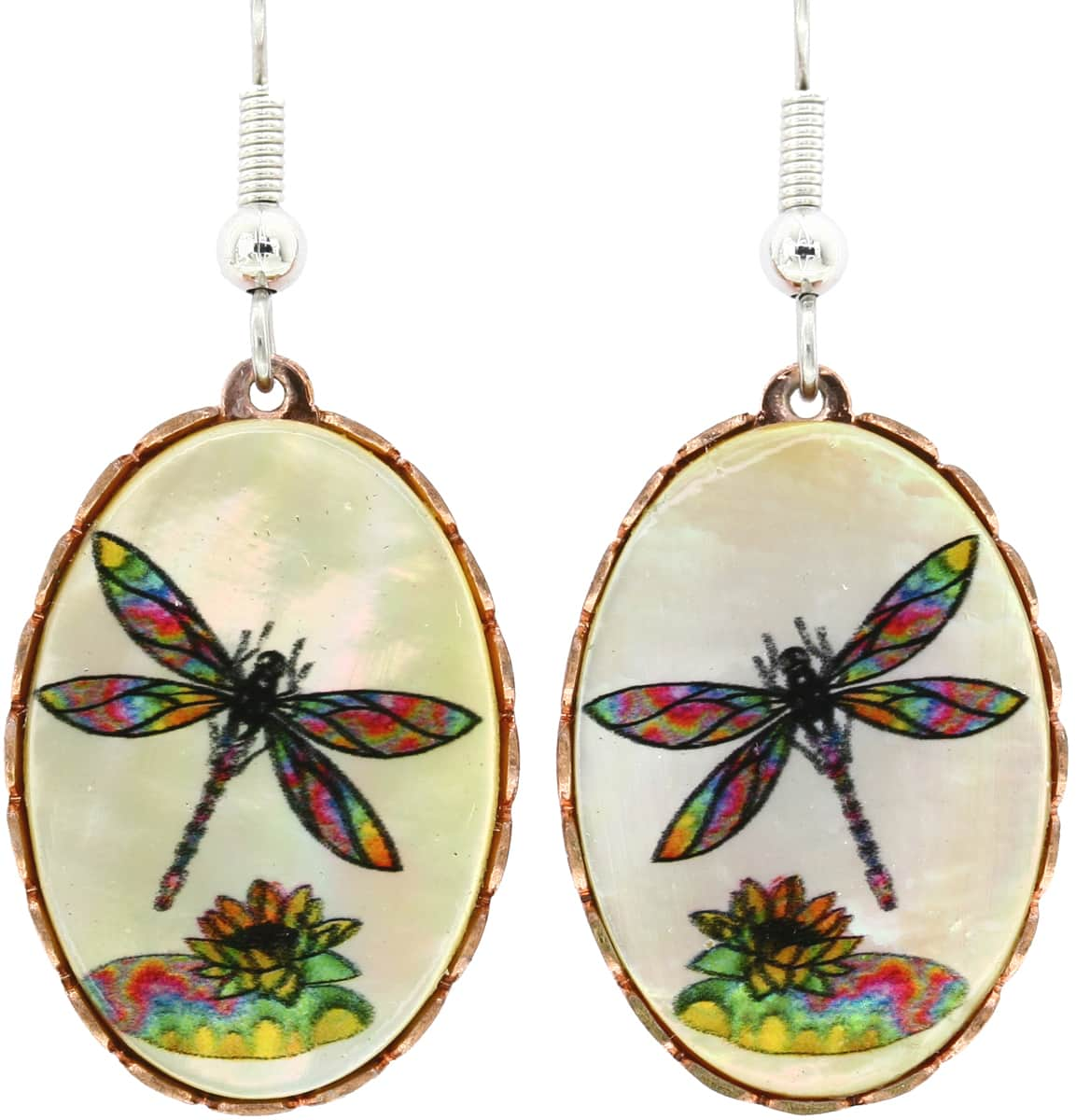 Mother of Pearl Dragonfly Earrings