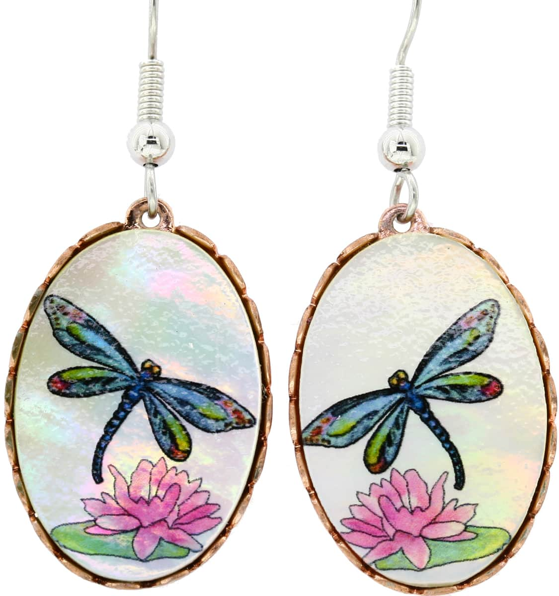 Dragonfly Earrings Made from Shells