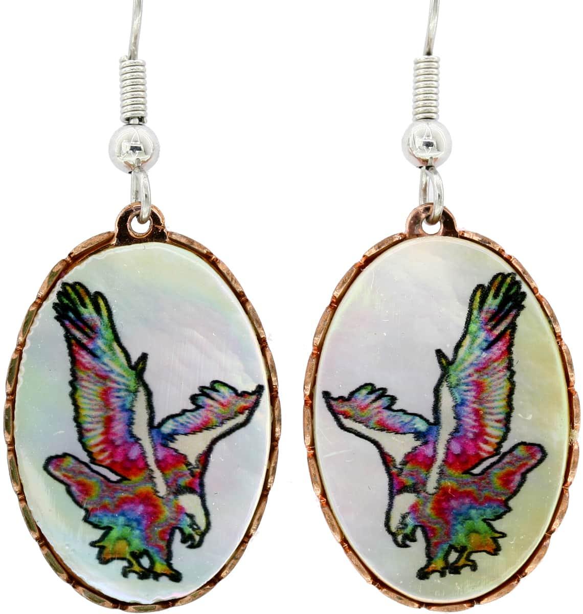 Shell Eagle Earrings