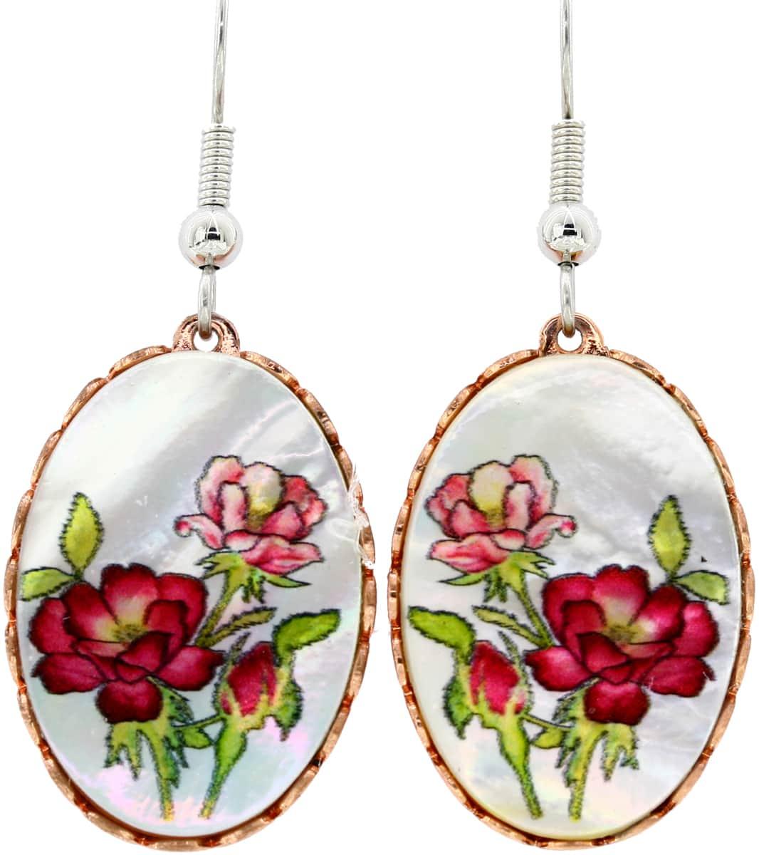Flower Earrings Made from Shells