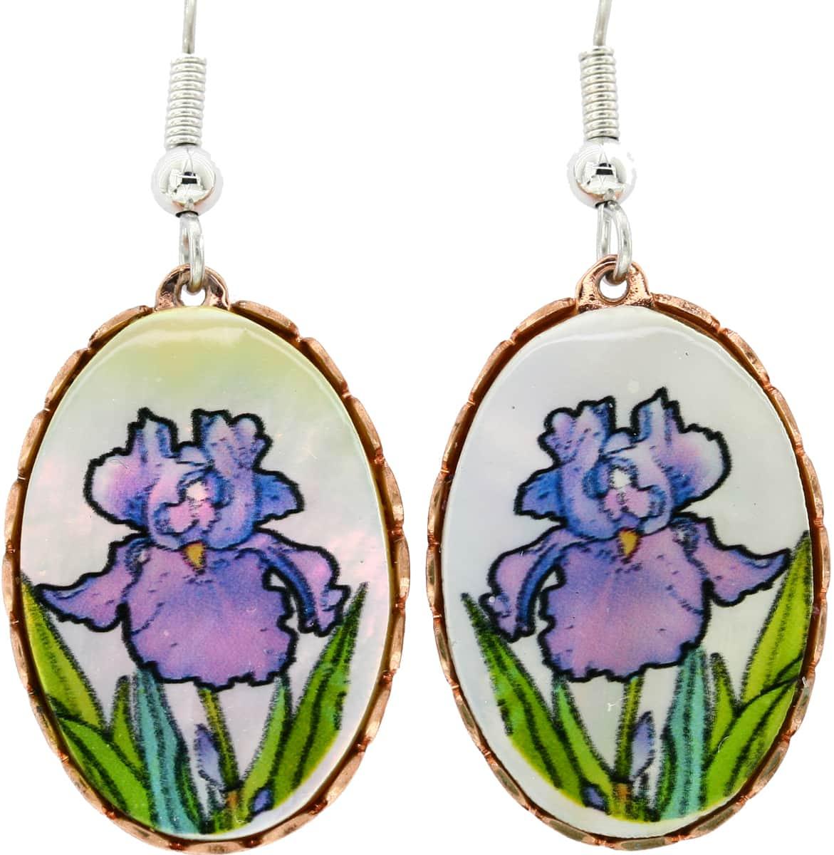 Shell Lilies Flower Earrings