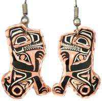 Canadian NW Native Bear Earrings