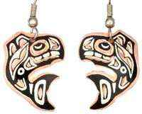 Canadian NW Native Whale Earrings