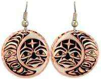 Canadian NW Native Sun and Moon Earrings