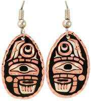 Canadian NW Native Abstract Native Earrings