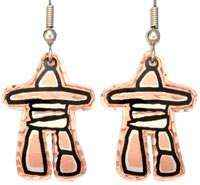 Native Canadian Inukshuk Earrings