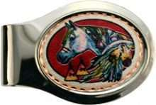 Native Indian Horse Money Clip