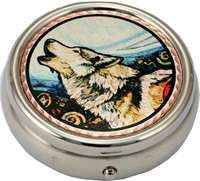 Native Wolf Pill Boxes