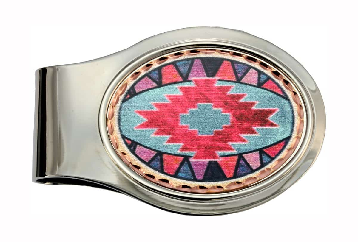Wholesale Money Clips in Colorful Native Artwork