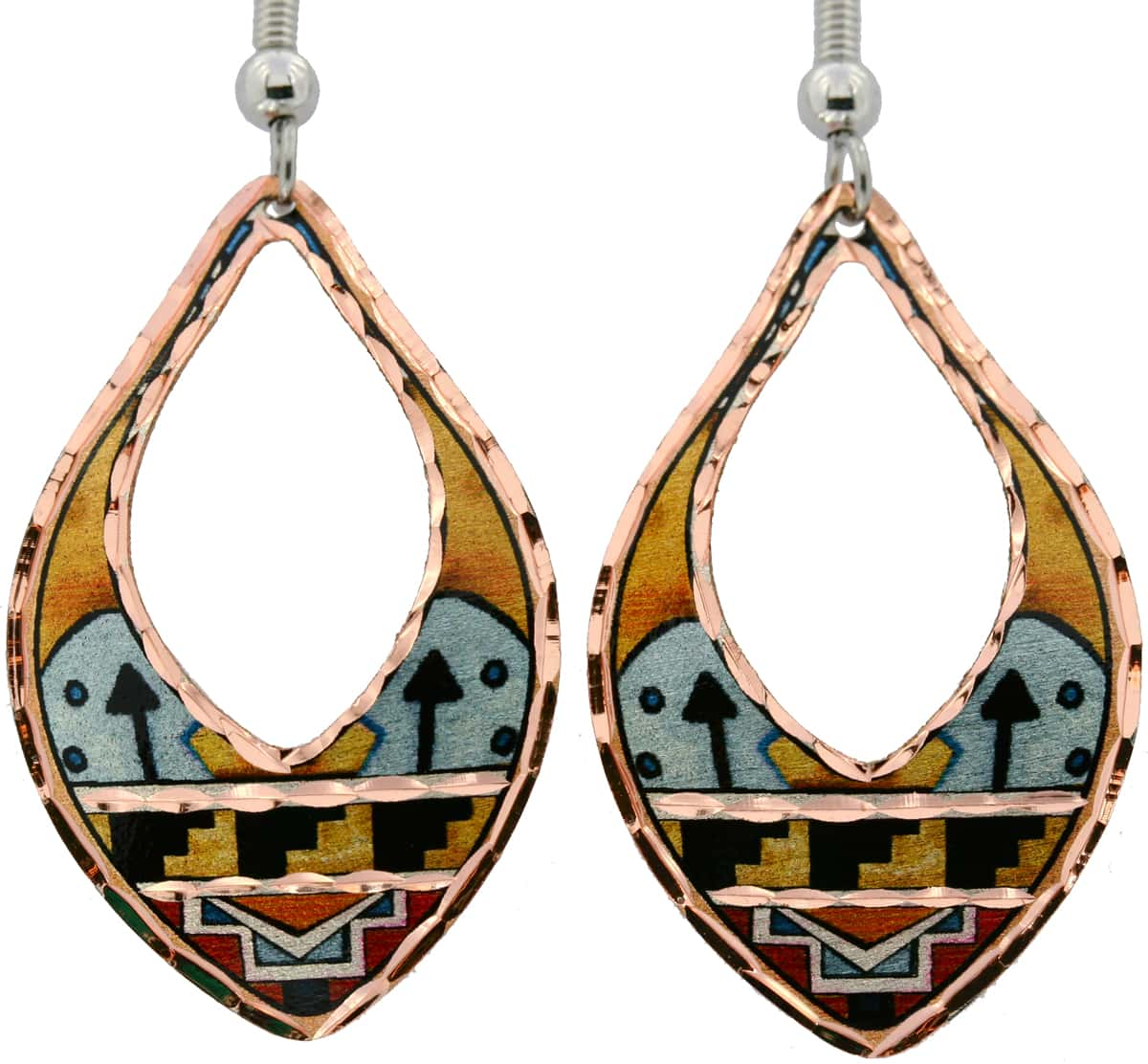 SW Native American Pueblo Indian Earrings