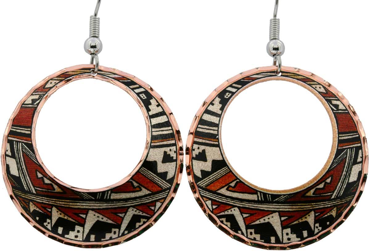 SW Hopi Tribe Pottery Inspired Earrings