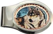 Timber Wolf Money Clips