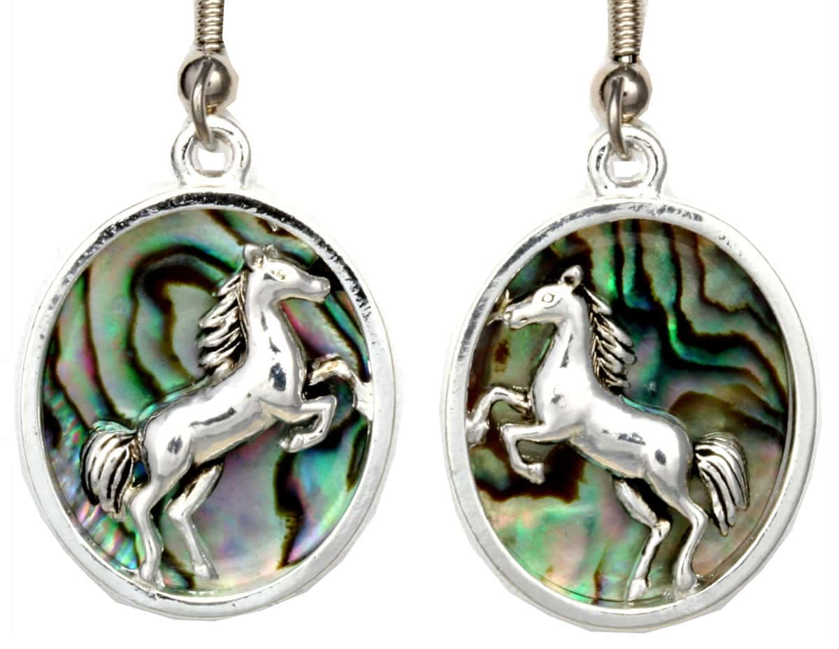 Silver Plated Wholesale Horse Earrings