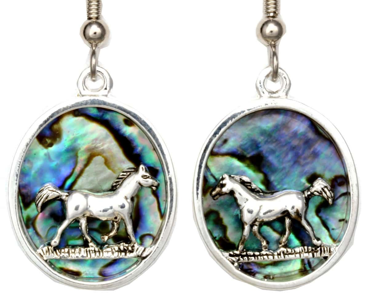 Wholesale Unique Jewelry, Silver Plated Horse Earrings