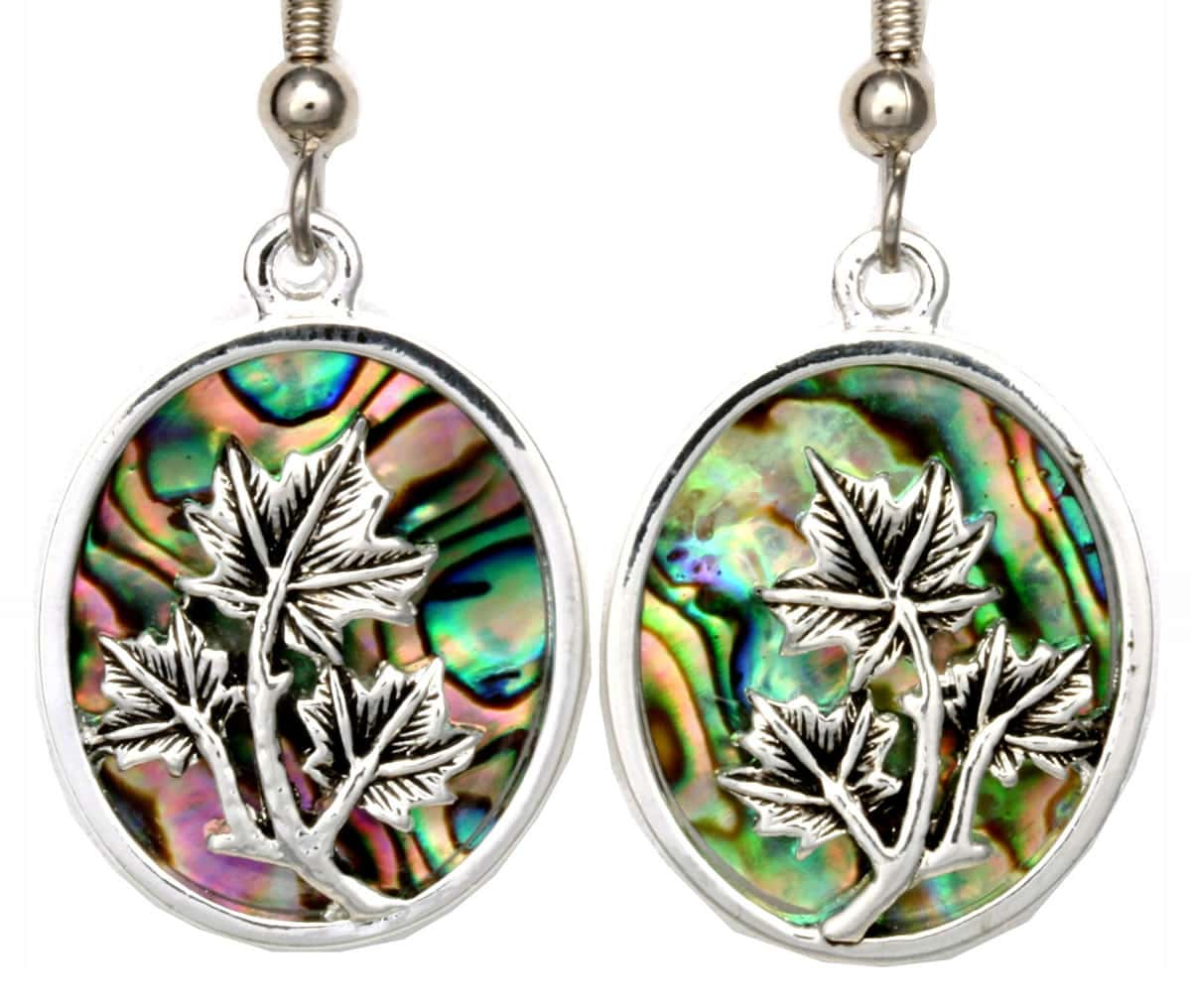 Wholesale Silver Plated Jewelry, Maple Leaf Earrings