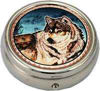 Timber Wolf Pill Boxes